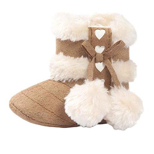 oft Sole Schnee Stiefel Soft Kleinkind Schuhe(12-18 Monate,Khaki) ()