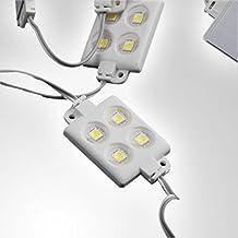 20x LED Módulo 4x Power SMD LEDs Blanco Impermeable 12V