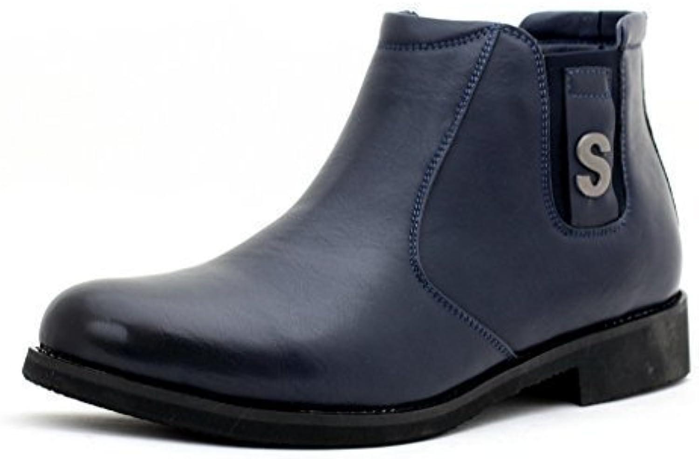 hombre nuevo Moda Botines Chelsea Casual Zapatos De Diseño Inteligentes Sin Cierres UK Size