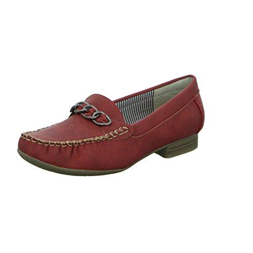 Alyssa A509-19 Damen Slipper Halbschuh eleganter Boden Rot (Rot)