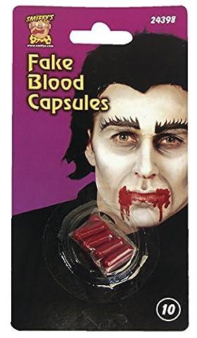 Horror Blutkapseln 10 Blutkapseln Gefüllt mit Pulv (Vampire Zombie-kostüme)