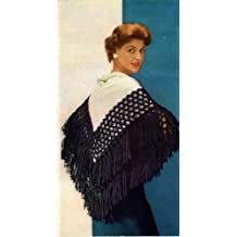 SYMPHONY SHAWL - A Vintage 1951 Yarn-Tying/Sewing Pattern for KINDLE - Easy! No knitting or crochet needed, just some simple sewing & tying! Instant Download ... ladies, girls, kids, e-book, old patterns)