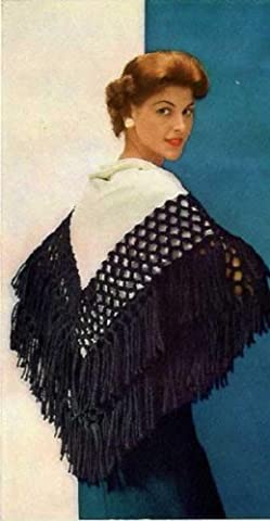 SYMPHONY SHAWL - A Vintage 1951 Yarn-Tying/Sewing Pattern for KINDLE - Easy! No knitting or crochet needed, just some simple sewing & tying! Instant Download ... ladies, girls, kids, e-book, old