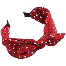 BODHI2000 ampia stampa a pois fiocco con nodo cerchio dei capelli turbante fascia  per donne ragazze 6a8d73443653