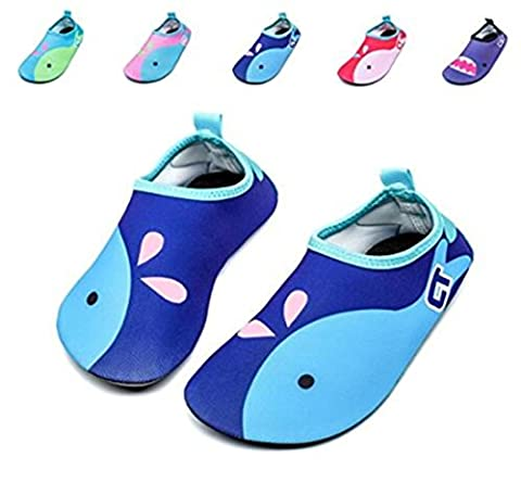 Water Shoes- Kids Barefoot Water Skin Shoes Aqua Socks for Swimming Diving Surf Yoga Gym Beach Pool (7-8 UK Toddlers (24-25EU),