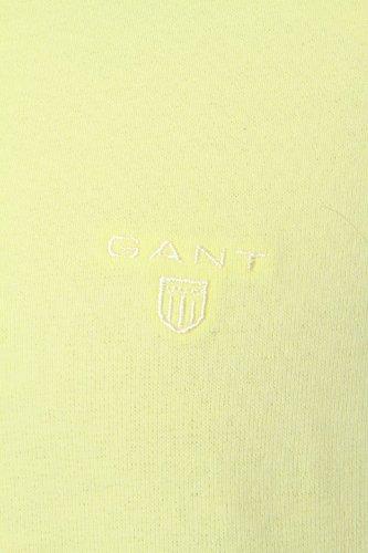 GANT Herren Pullover Sweatshirt SUNBLEACHED C-NECK, Farbe: Hellgelb Hellgelb