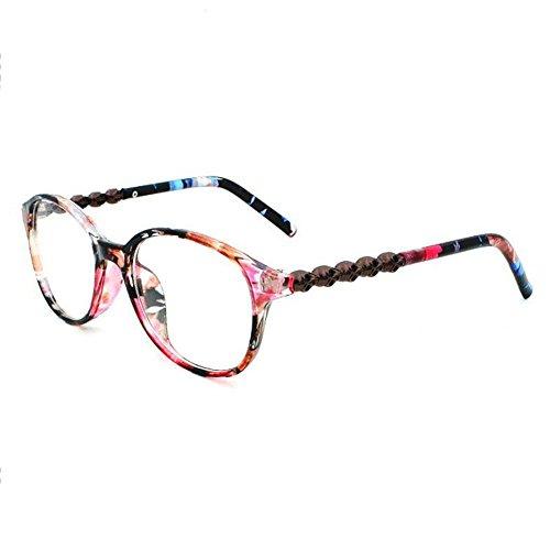 Z&YQ klar Linse Gläser Flieger Spiegel Myopie Spirale Rahmen Mode Brillen , coloured glaze