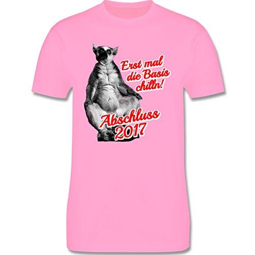 Abi & Abschluss - Abschluss 2017 Erst mal die Basis chilln! - Herren Premium T-Shirt Rosa