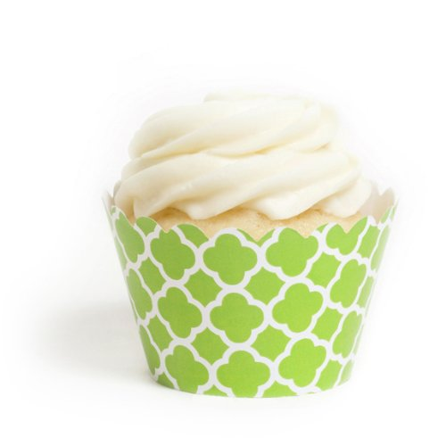 Dress My Cupcake Kiwi Green Spanish Tile Cupcake Wrappers, Set of 12 by Dress My Cupcake (Stand Cupcake Stewart Martha)