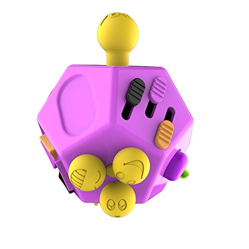 Huayang| 12-Side Fidget Cube Toys - Relieves Stress and Increases Focus for Adults with ADHD ADD OCD Autism- Anti-anxiety and Depression Cube for Children and Adults-Purple -