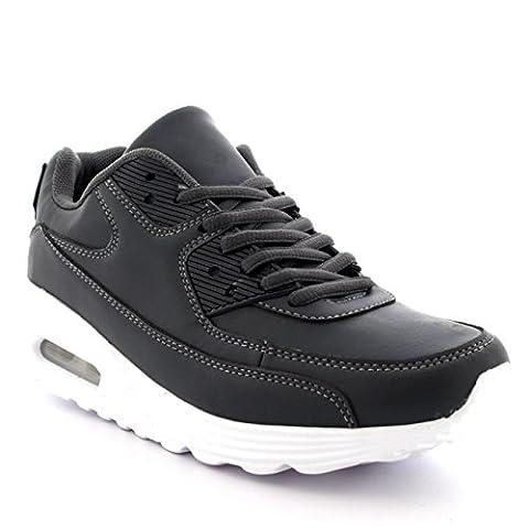 Mens Fitness Air Bubble Sport Walking Running Performance Shoes Lightweight Trainers - Grey - UK8/EU42 - BS0089