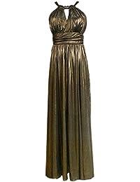 JNTworld Frauen Sexy Keyhole Sleeveless elegantes formales Abend Hochzeits Kleid