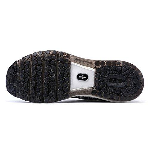 Onemix Air Uomo Scarpe da Corsa Sportive Running Sneakers Casual all'Aperto Nero bianco