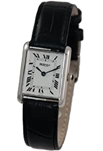 BN12203- Bernex Ladies Rhodium Plated Wrist Watch, Mechanical, White Roman Dial, Without Date