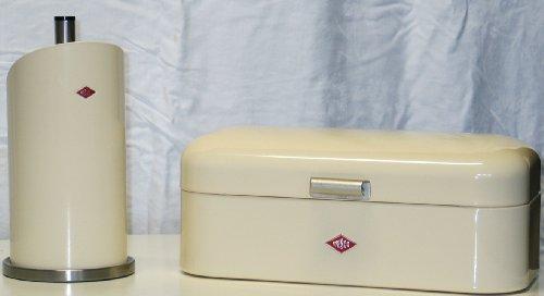 Preisvergleich Produktbild Wesco Grandy Brotkasten + Küchenrollenhalter im Set, Farbe: mandel