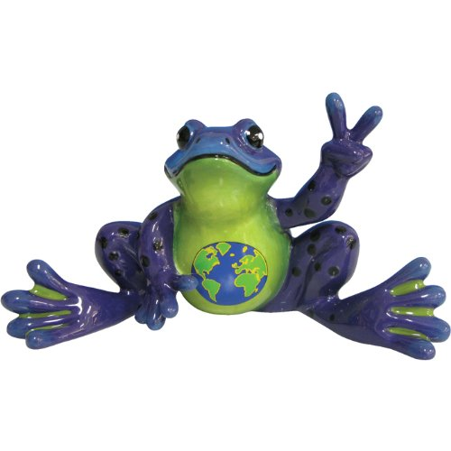 westland-giftware-peace-frogs-ceramic-earth-belly-frog-figurine-3-inch-by-westland-giftware