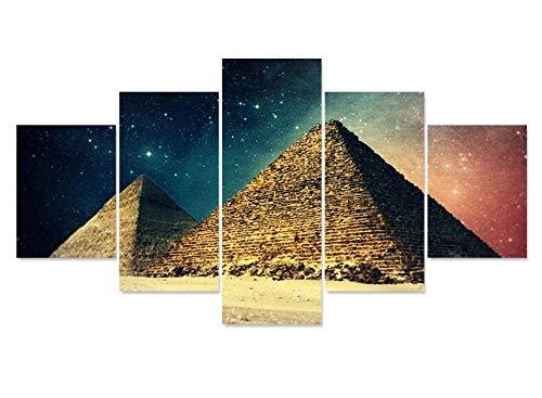 WLHZNB Leinwanddrucke 5 Stücke Pyramide Kunst Fotodruck