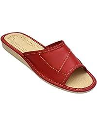 Leder, sandaletten Pantoffeln N Damen Gefüttert Hausschuhe Latschen