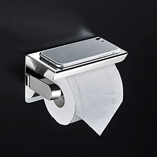 BAYTTER Toilettenpapierhalter Zur Wandmontage WC Papierhalter  Klopapierhalter Rollenhalter Wand Halter Aus 304 Edelstahl Für Badzimmer  Küche