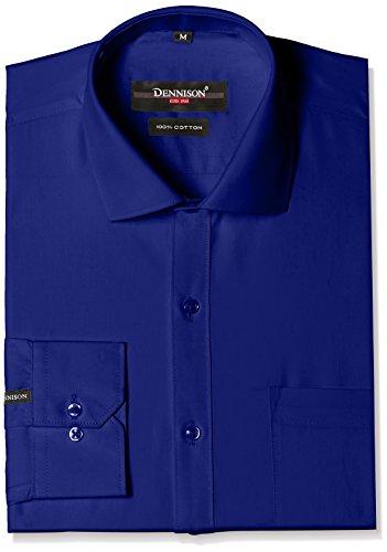 Dennison Men's Formal Shirt (SS-16-165_42_Royal blue)