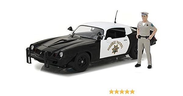 Chevrolet Camaro Z 28 California Highway Patrol Police 1979 Mit Figur Modellauto 1 18 Greenlight Collectibles Spielzeug