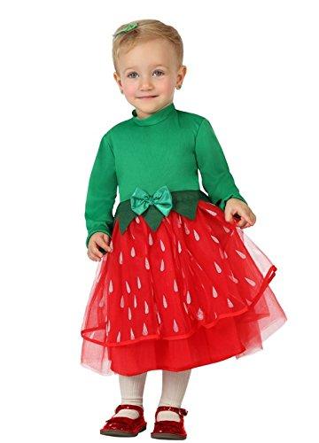 re, Baby, Größe 12-24 Monate, rot/grün (Baby Mädchen Kostüm Erdbeere)