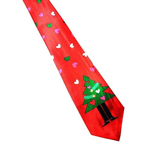 n Kostüm Weihnachten Männer Frauen Kinder Baby Krawatte Weiche Charakter Krawatte 9,5 cm 140 cm Weihnachtsmann von Bornbayb (Männer Weihnachten Kostüme)