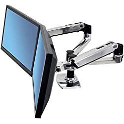 Ergotron 45-245-026 Support de bureau pour deux écrans