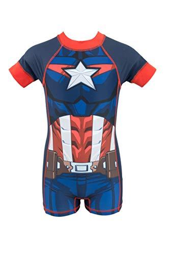 Super Heroes Marvel Avengers - Schwimmanzug wärmeisolierend Anti UV 50+ für Jungen - 9071ES [Blau - 2 Jahre - 92 cm]
