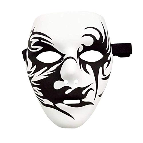 Inception pro infinite Modell 3 - Maske Hip Hop Street Dance Jabbawockeez Ghost Kiss Joker Pierrot Weiß Kostüm Maskerade Karneval Halloween Cosplay Zubehör Mann ()