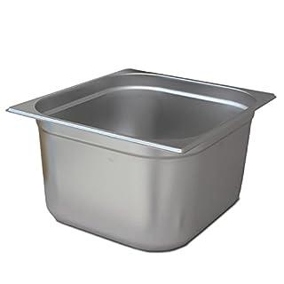 GN Behälter 2/3 Edelstahl - Höhe 200 mm, Gastronormbehälter aus Edelstahl von ALLPAX, perfekt als Behälter für den Sous-Vide-Garer SVU