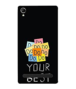 FUSON Designer Back Case Cover for Intex Aqua Power Plus :: Intex Aqua Power + (Good Idea Great quote Success Quote)