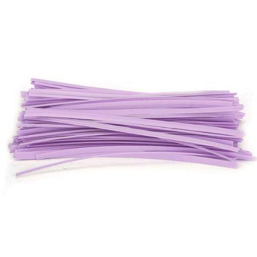 TOOGOO(R) Lot 100 violet kraft attache lien twist tie sachet bonbons biscuits sucettes