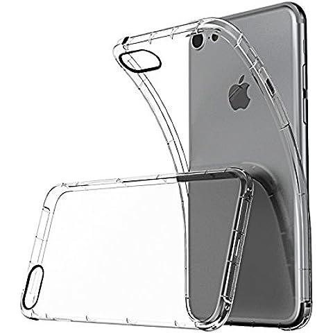 iPhone 7 Funda, Ikupei Ultra Transparente Apple iPhone 7 Case Carcasa Shock-Absorción y Anti-Arañazos Borrar Espalda Clara Silicona Funda para iPhone