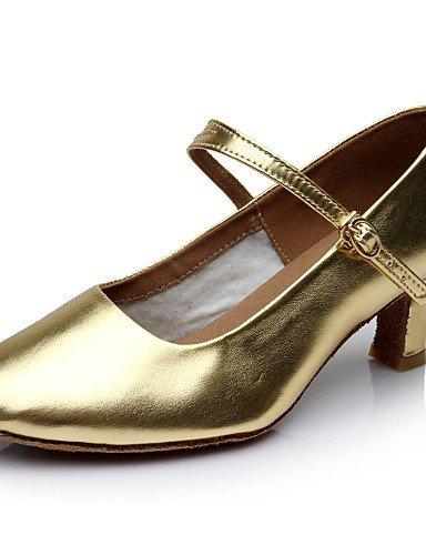 ShangYi Chaussures de danse ( Noir / Argent / Or ) - Personnalisables - Talon Personnalisé - Similicuir - Latine / Moderne Gold