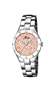 Lotus Watches Reloj Análogo clásico para Mujer de Cuarzo con Correa en Acero Inoxidable 18568/3