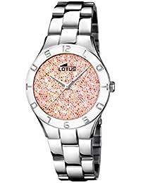 3aba2e876425 Lotus Watches Reloj Análogo clásico para Mujer de Cuarzo con Correa en  Acero Inoxidable 18568