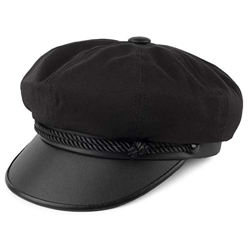 Village Hats Casquette Brando en Toile noir NEW YORK HAT CO. - MEDIUM