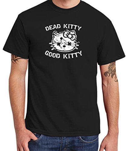 clothinx - Dead Kitty Good Kitty - Boys T-Shirt Schwarz, Größe XXL