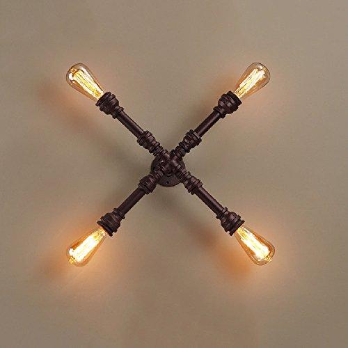 acabado-robusto-de-la-lampara-de-pared-solida-industrial-del-hierro-cuatro-cabezas-cruzan-el-aparato