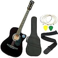 Jixing JXNG-BLK-C Acoustic Guitar,Black