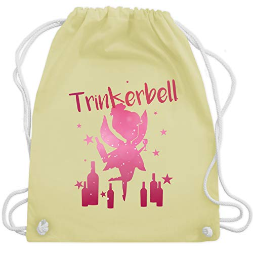 JGA Junggesellinnenabschied - Trinkerbell mit Flaschen - Unisize - Pastell Gelb - WM110 - Turnbeutel & Gym Bag