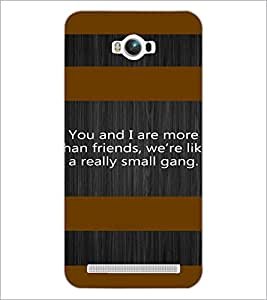 PrintDhaba Quote D-4909 Back Case Cover for ASUS ZENFONE MAX ZC550KL (Multi-Coloured)