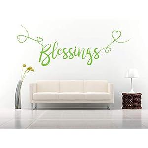 Blessings, Vinyl, Wandkunst Aufkleber, Wandbild, Aufkleber. Haus, Wanddekoration, Küche, Esszimmer, Schlafzimmer.