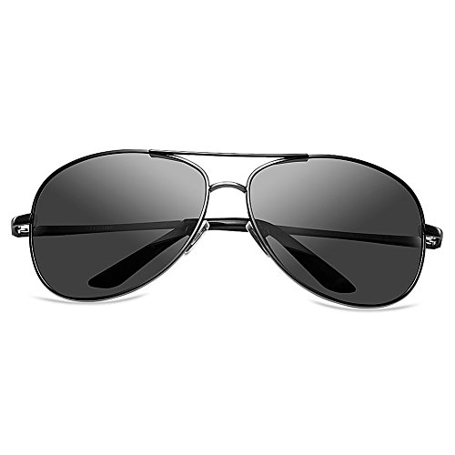 Zheino 5904 Full Mirror Sun Glasses Unisex Polarizzato Pilota AVIATOR anabbagliante Occhiali Guidare Occhiali guida sportiva Eyewear Grey