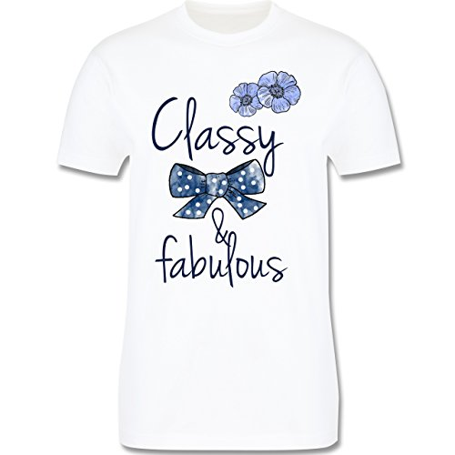 Statement Shirts - Classy and fabulous - Herren Premium T-Shirt Weiß