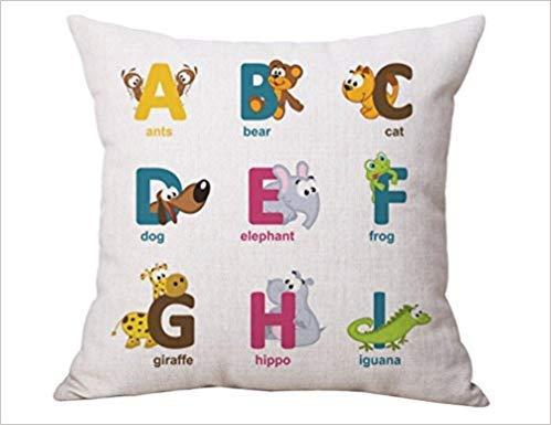 No Soy Como Tu kissenbezüge Alphabet Cards G:695 Pillow Case Cushion Cover Home Sofa Decorative 18 X 18 Squares Kleine Memory Card Case