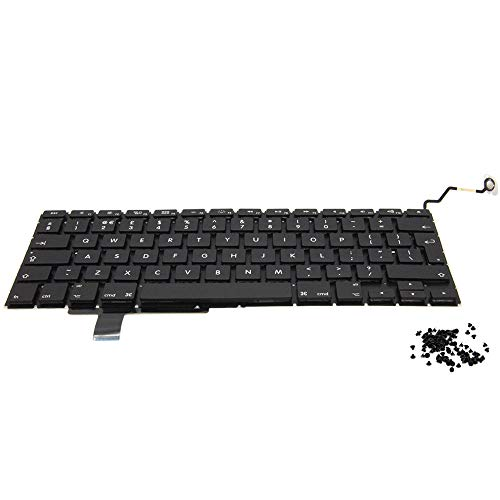 MMOBIEL Keyboard Tastatur UK Version QWERTY Ersatz kompatibel mit MacBook Pro A1286 15