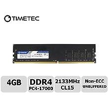 Timetec Hynix IC 4GB DDR4 2133MHz PC4-17000 Non ECC Unbuffered 1.2V CL15 1R8 Single Rank 288 Pin UDIMM Desktop PC Computer Memory Ram Module Upgrade