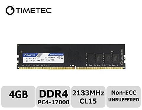 Timetec Hynix IC 4GB DDR4 2133MHz PC4-17000 Unbuffered Non-ECC 1.2V CL15 1Rx8 Single Rank 288 Pin UDIMM Desktop Memory RAM Module Upgrade